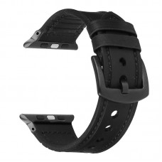Black Leather Silicone Band for apple watch