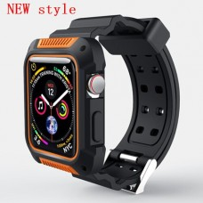 New orange case+strap For Apple Watch band apple watch 4 3 band