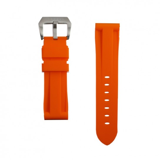 Orange Rubber Breitling Strap