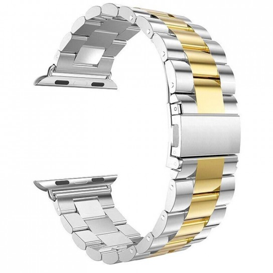 Silver gold EIMO Stainless Steel Band For apple watch band Strap