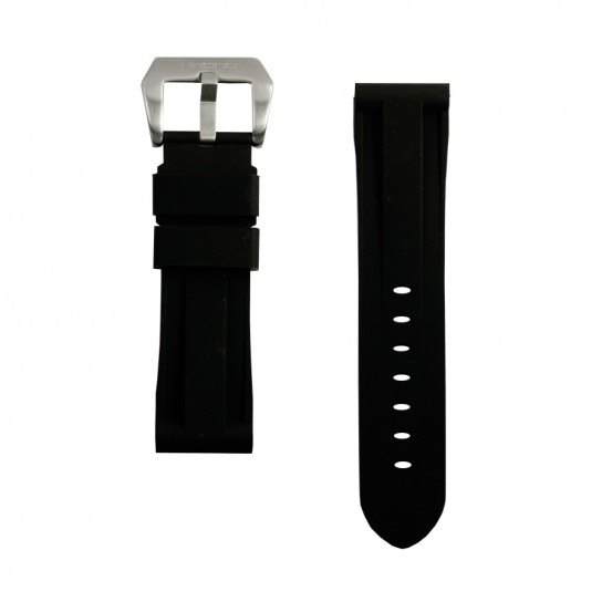 Black Rubber Omega Strap