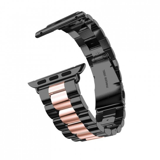 Black rose gold EIMO Stainless Steel Band For apple watch band Strap