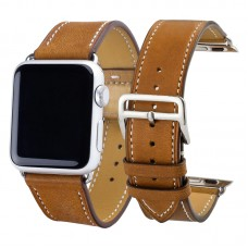 Brown Carous Leather Watchband for Apple Watch Band Series
