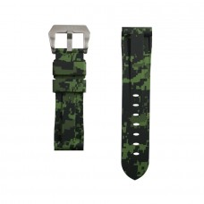 Green Digital Camouflage Rubber Tag Heuer Strap