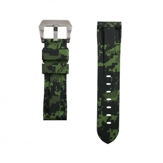 Green Digital Camouflage Rubber Panerai Strap