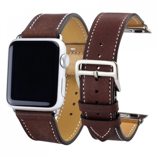 Purple Carouse  Leather Watchband for Apple Watch Band Series