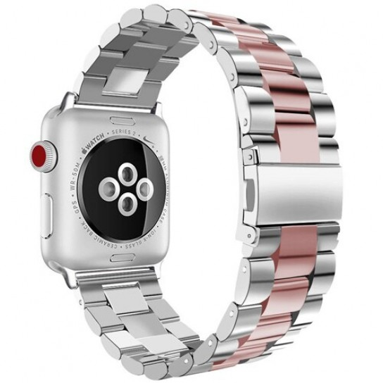 silver rose pink EIMO Stainless Steel Band For apple watch band Strap