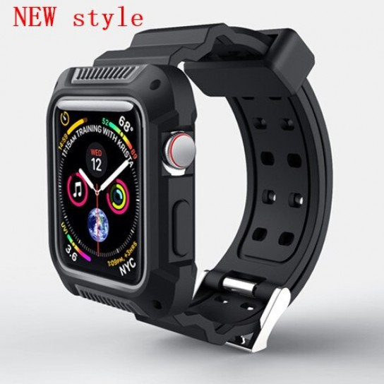 New gray case+strap For Apple Watch band apple watch 4 3 band