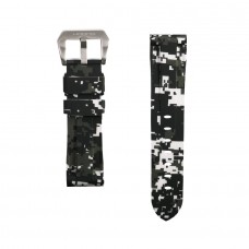 White Digital Camouflage Rubber Tag Heuer Strap