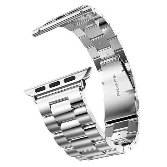 Silver EIMO Stainless Steel Band For apple watch band Strap