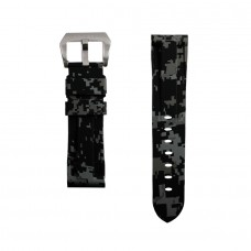 Grey Digital Camouflage Rubber Tag Heuer Strap
