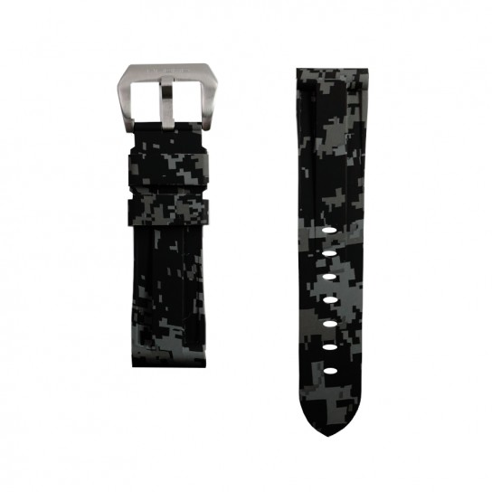 Grey Digital Camouflage Rubber Omega Strap