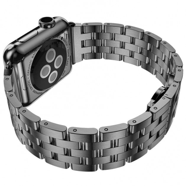 Black Stainless Steel bands for Apple Watch Series 4