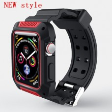 New red case+strap For Apple Watch band apple watch 4 3 band
