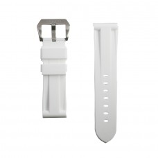 White Rubber Tag Heuer Strap