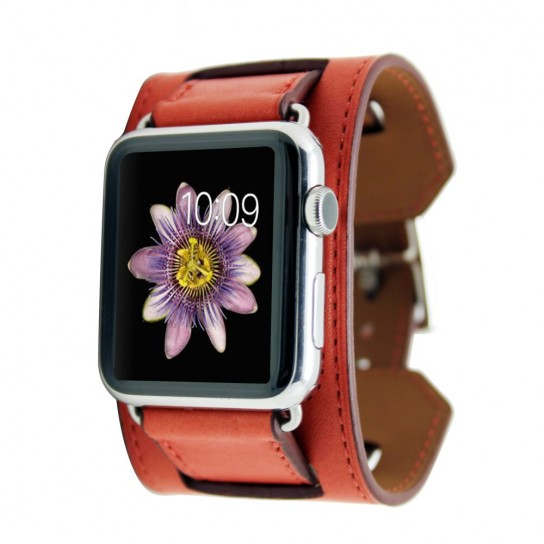 Red Luxury Classic Cuff Bracelet Belt for Apple Watch