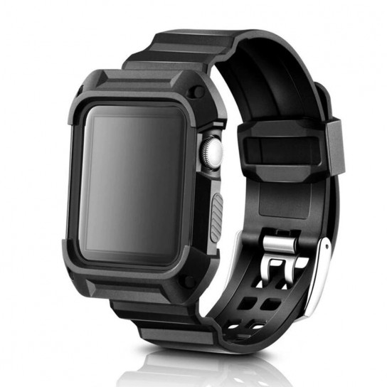 Black case+strap For Apple Watch band apple watch 4 3 band