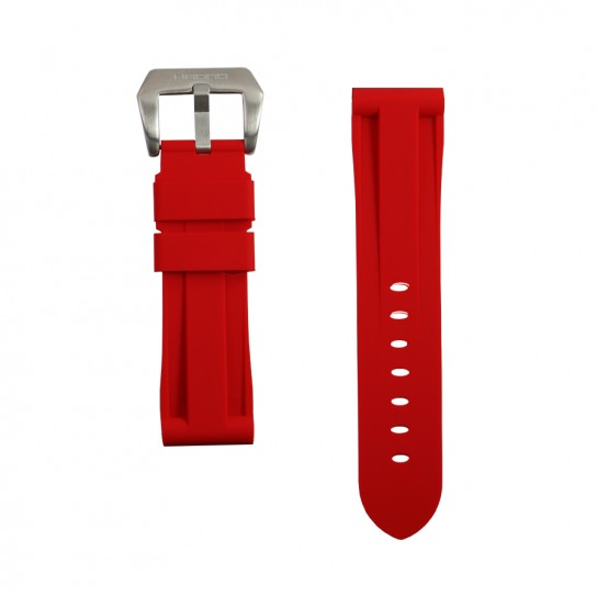 Red Rubber Breitling Strap