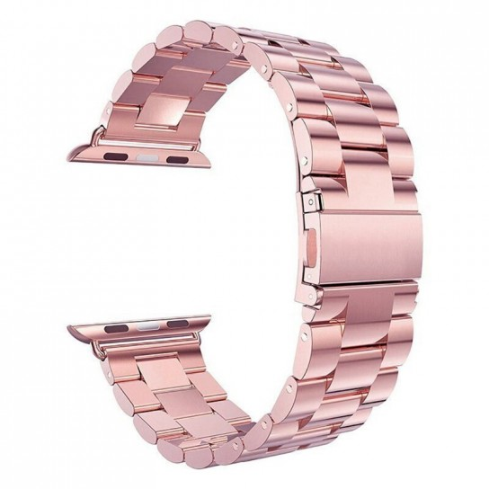 Rose red EIMO Stainless Steel Band For apple watch band Strap