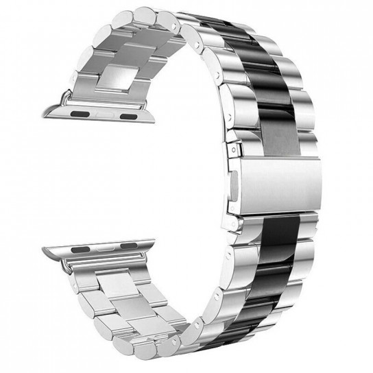 Silver black EIMO Stainless Steel Band For apple watch band Strap