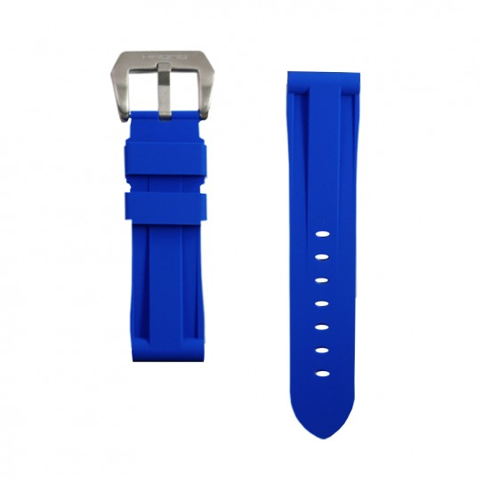 Blue Rubber Breitling Strap