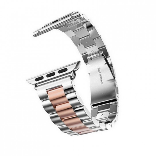 Silver rose gold EIMO Stainless Steel Band For apple watch band Strap