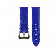 Blue Genuine Stingray Strap in Size 24mm