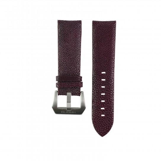 Burgundy Red Genuine Stingray Strap in Size 24mm