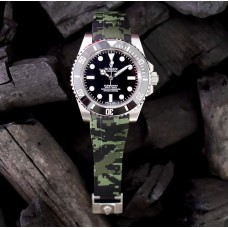 Green Digital Camouflage Krono Straps for Rolex Submariner