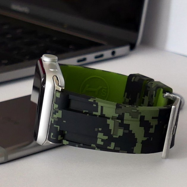 Green Digital Camouflage Apple Watch Strap