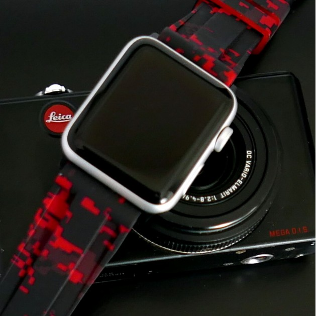 Red Digital Camouflage Apple Watch Strap