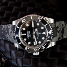 Grey Digital Camouflage Krono Straps for Rolex Yachtmaster