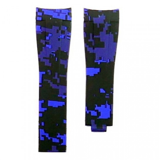Blue Digital Camouflage Krono Straps for Rolex Submariner