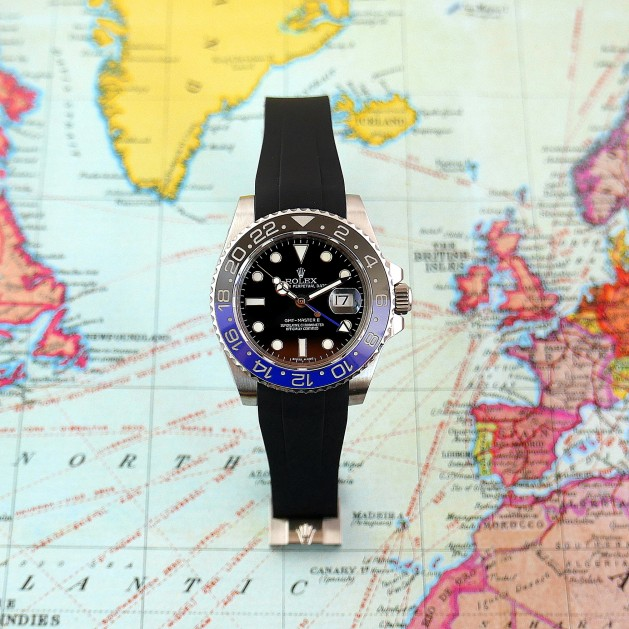 Black Krono Straps for Rolex GMT
