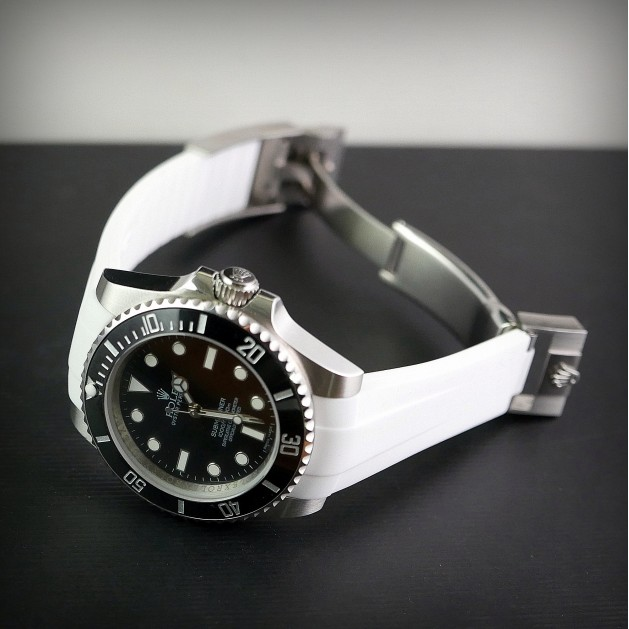 White Krono Straps for Rolex Submariner