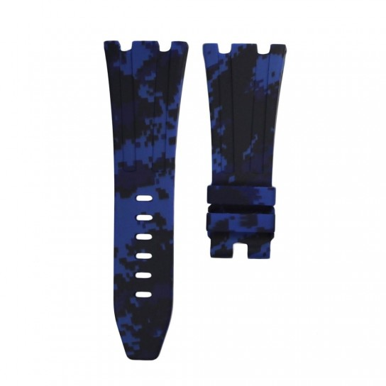 Blue Digital Camouflage Rubber Audemars Piguet 42mm Diver Strap