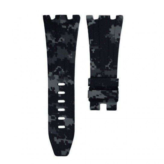 Grey Digital Camouflage Rubber Audemars Piguet 42mm Diver Strap