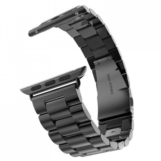 Dark black EIMO Stainless Steel Band For apple watch band Strap