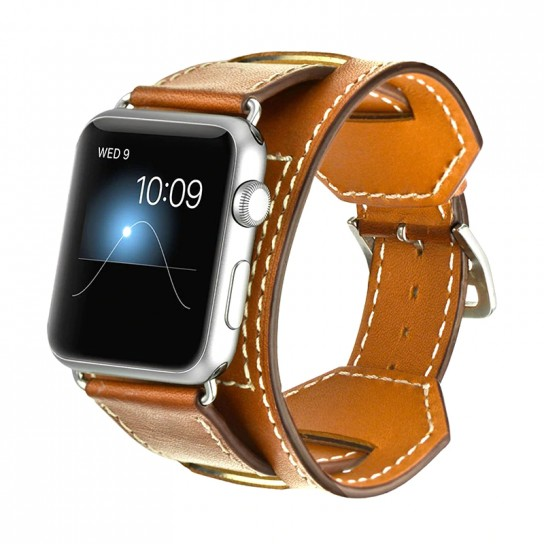 Brown Luxury Classic Cuff Bracelet Belt for Apple Watch