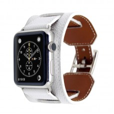 White Luxury Classic Cuff Bracelet Belt for Apple Watch