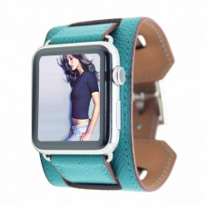 Peacock Green Luxury Classic Cuff Bracelet Belt for Apple Watch