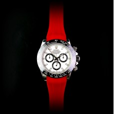 Red Krono Straps for Rolex Daytona