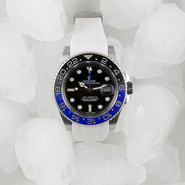 White Krono Straps for Rolex GMT