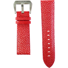 Red Genuine Stingray Strap in Size 24mm